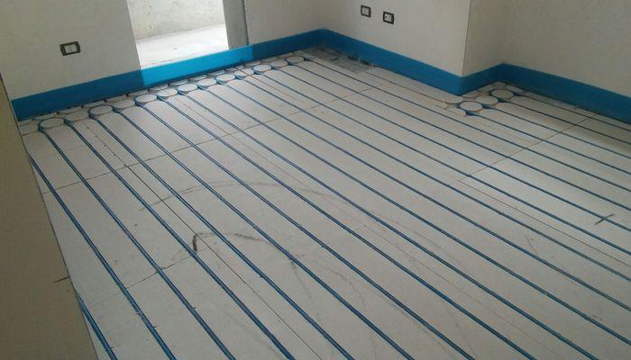 Pannelli radianti in fibrogesso per pavimento radiante a secco