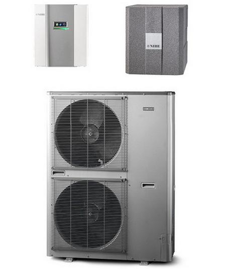 Pompe di calore Roma - NIBE ams10-16 - hbs05-16, reversibile.