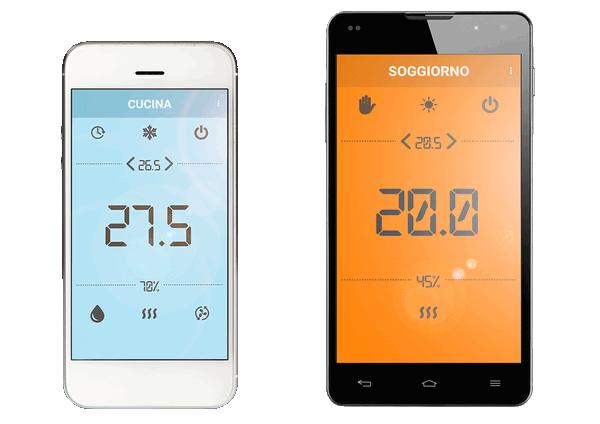 Efficienza energetica con termoregolazione remota da smartphone