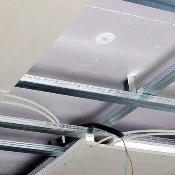 Pannelli radianti a soffitto per riscaldamento e raffrescamento, Roma