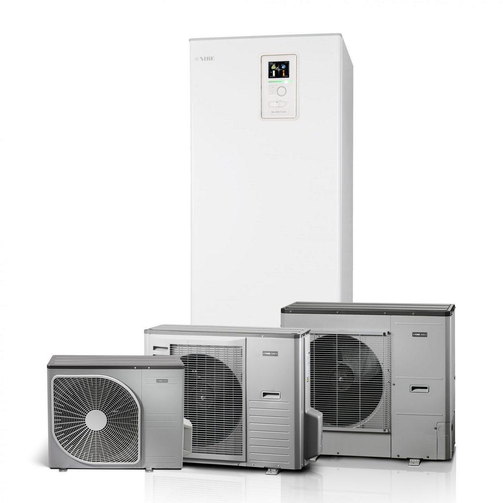 Pompa di calore aria acqua nibe BA-SVM 10-200 con unità esterne AMS 10